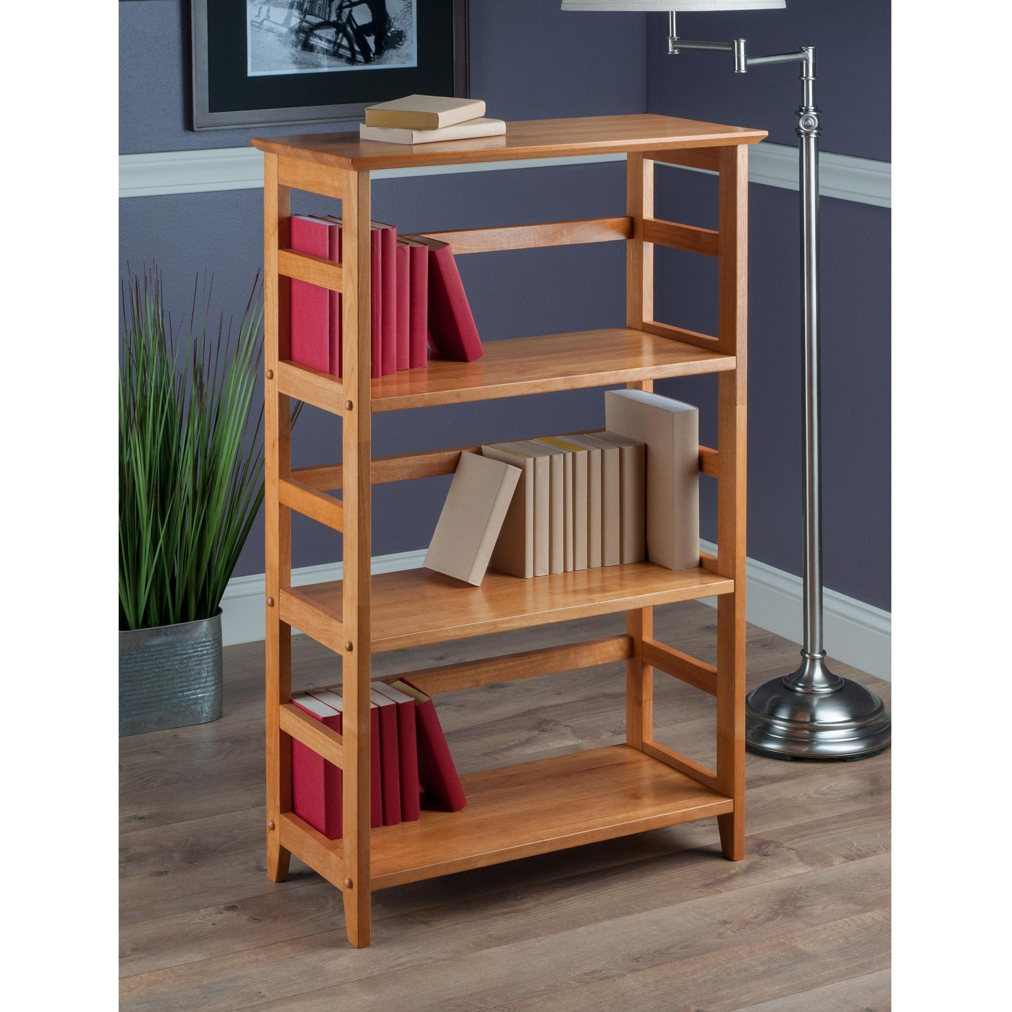Favorite Amazon: Winsome Wood 4 Tier Bookshelf, Honey: Kitchen & Dining With High Quality Bookcases (View 11 of 15)