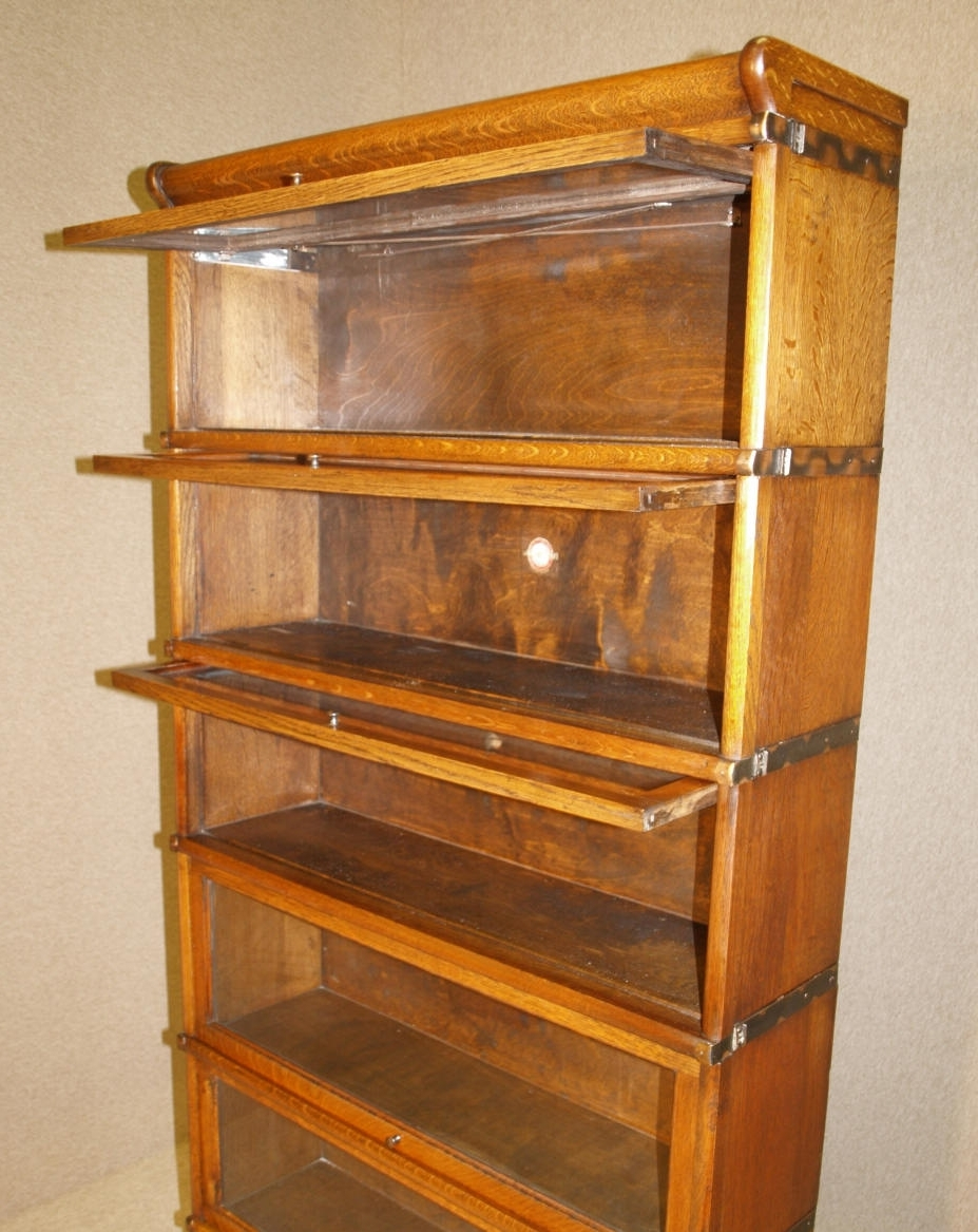 Favorite Antique Oak Globe Wernicke Bookcase Circa  (View 4 of 15)