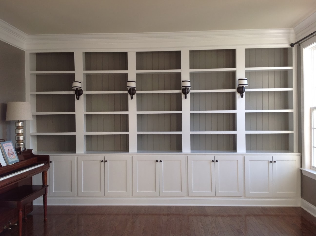Favorite Bookshelves With Cabinet Base In Right Up My Alley: How We Built Our Library Bookshelves (View 7 of 15)