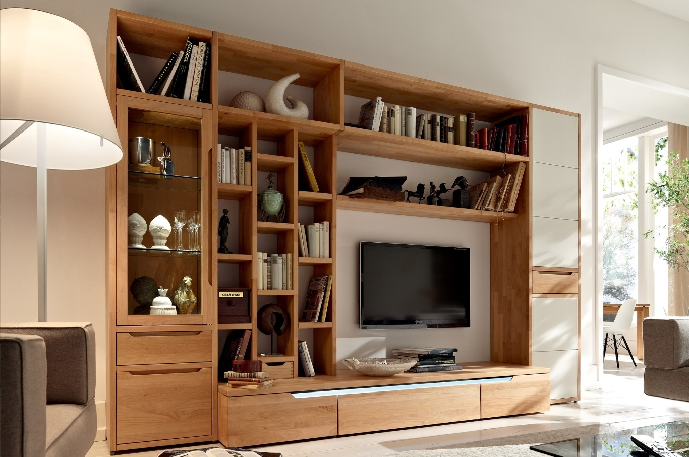 Favorite Custom Built Wall Units Plans Tv Bookcase Combination Full Hd With Regard To Tv Bookcases Combination (View 4 of 15)