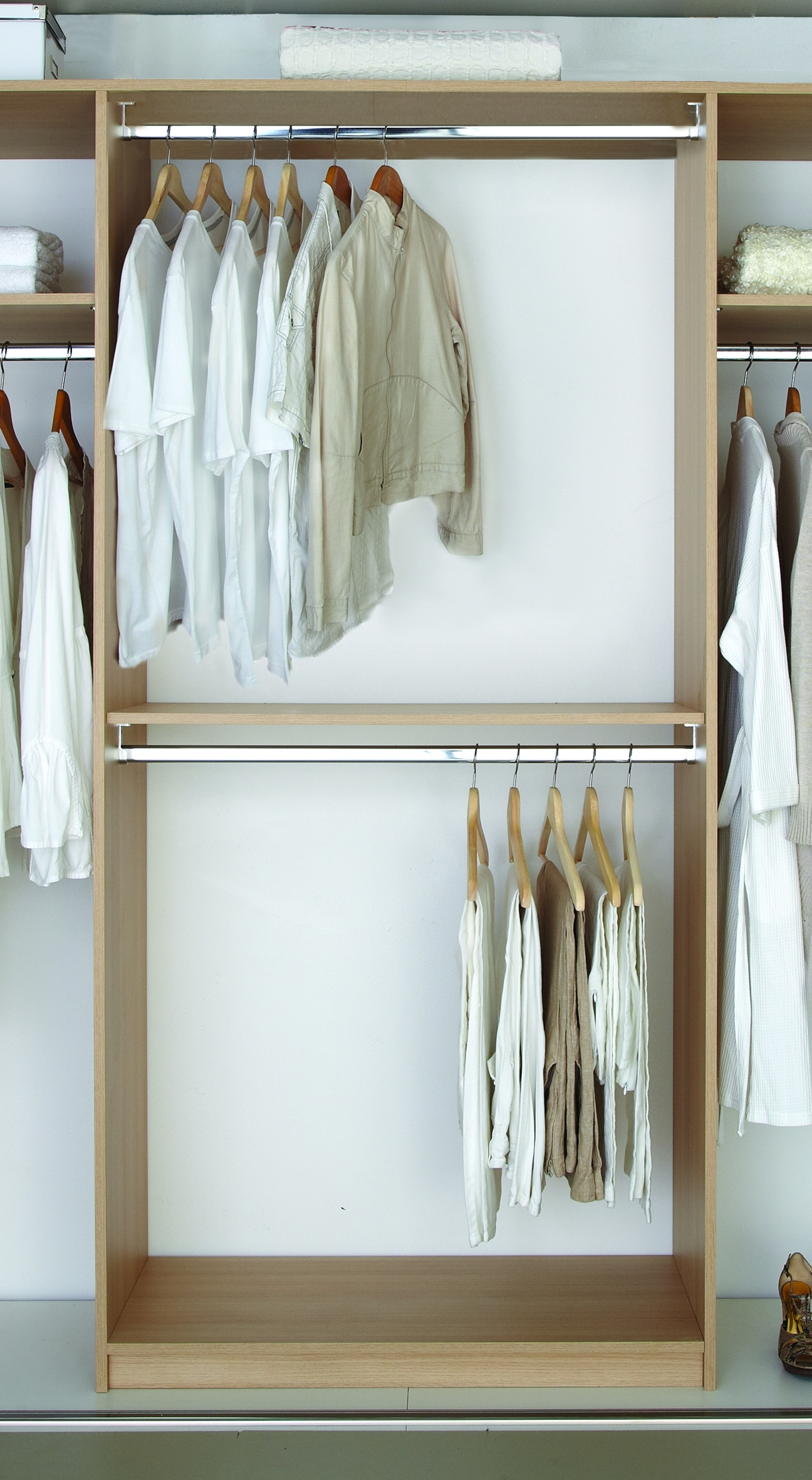 Favorite Double Rail Wardrobes Regarding Wardrobe Components – Norfolk Manufacturing (View 8 of 15)