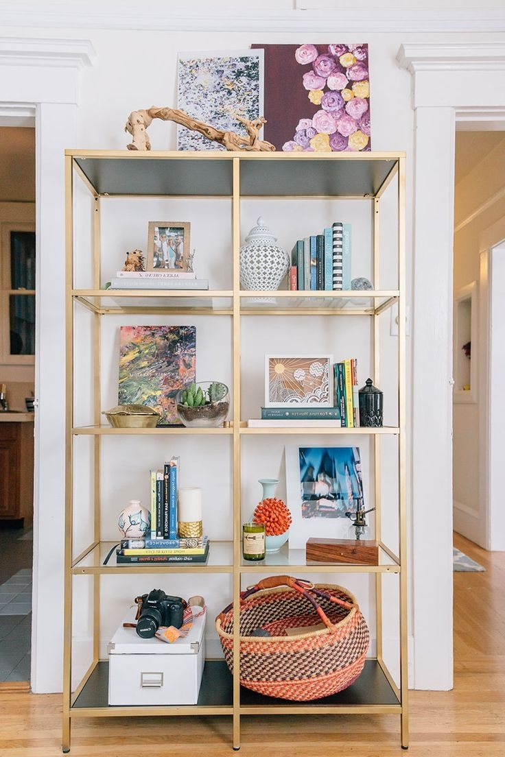 Favorite Gold Metal Bookcases For Furniture Home: Gold Metal Bookcase Best Ideas On Pinterest (View 11 of 15)