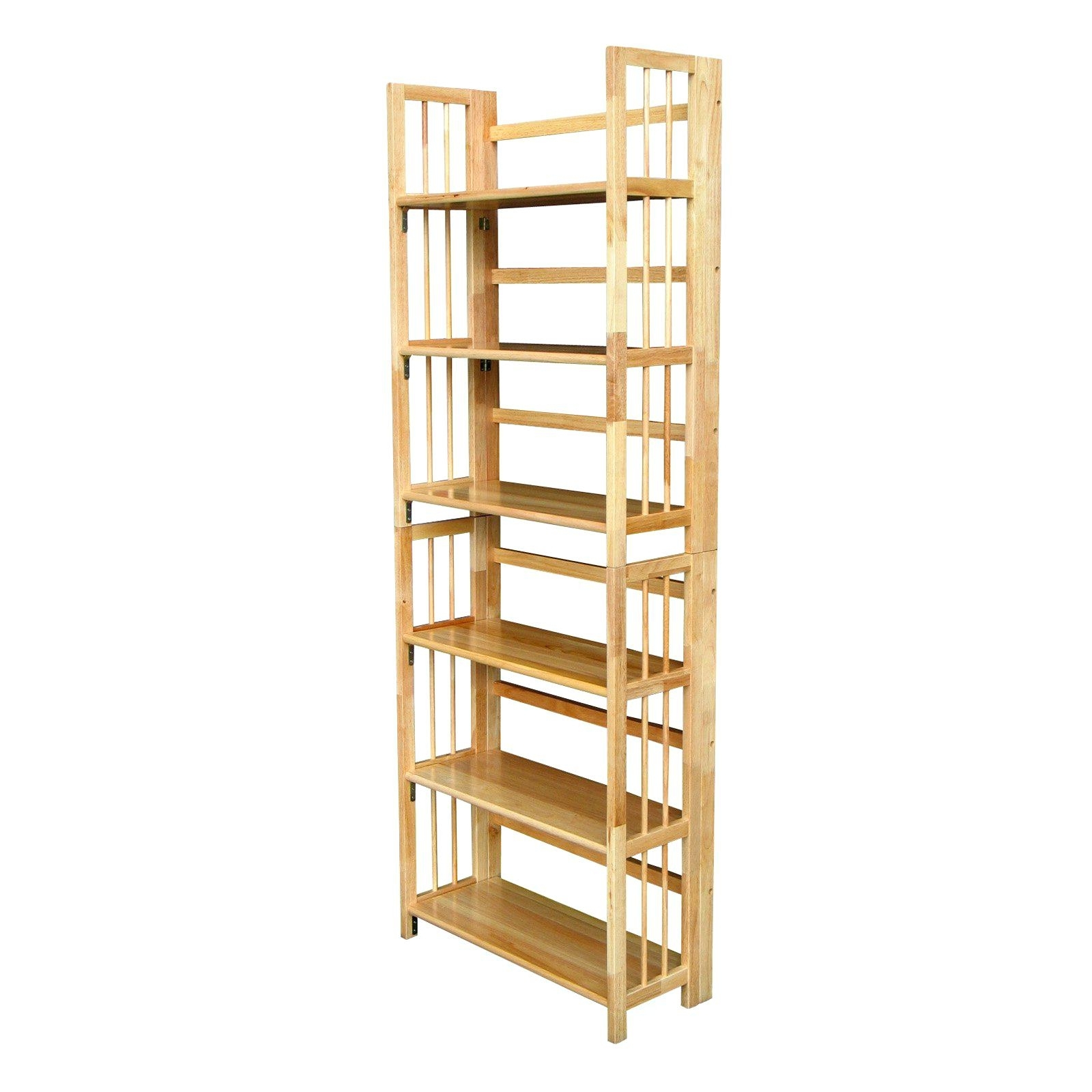 Favorite High Gloss Shelves 3 Tier Stackable Folding Bookcase Bookcases At Inside Foldable Bookcases (View 13 of 15)