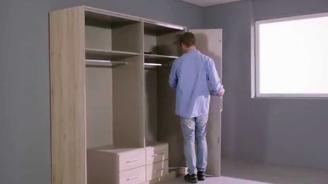 Favorite How To Assemble The Moreno Folding Door Wardrobe – Youtube Throughout Folding Door Wardrobes (View 10 of 15)