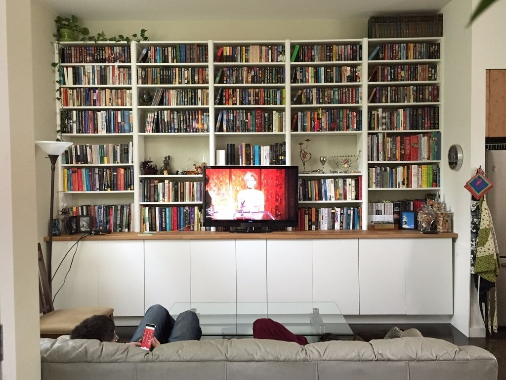 Favorite Ikea Hack: Built In Cabinets And Bookshelves: 6 Steps (With Pictures) Inside Huge Bookshelves (View 3 of 15)