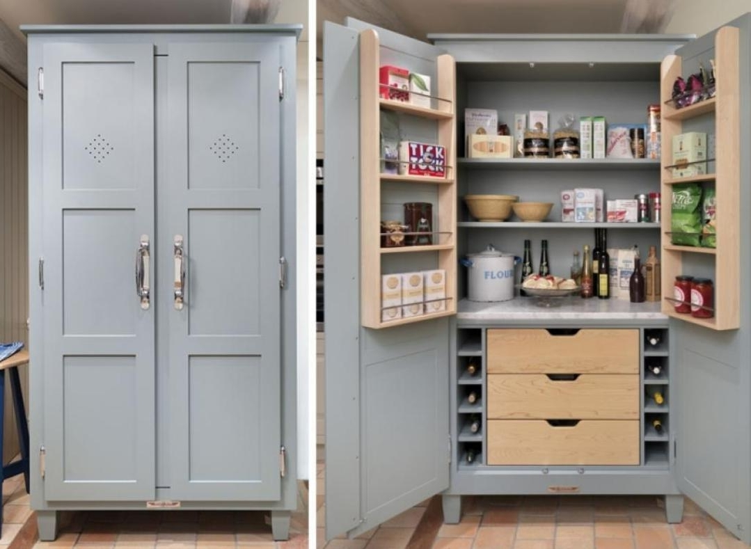 Favorite Kitchen : Stand Alone Kitchen Free Standing Corner Pantry Free Intended For Free Cupboards (View 11 of 15)