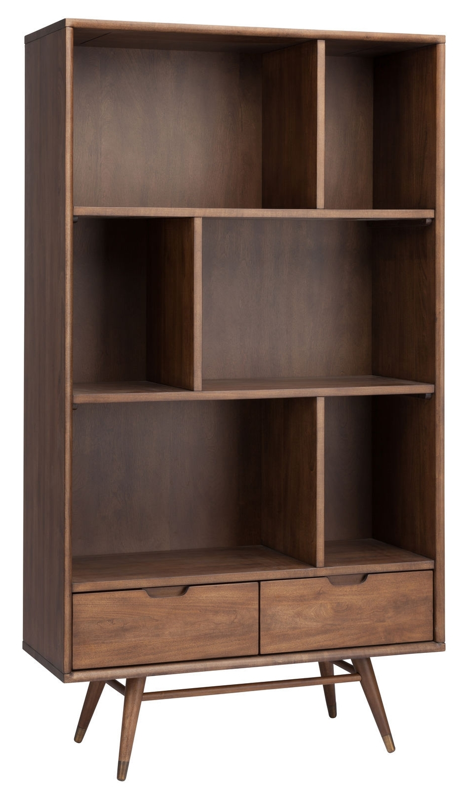 Favorite Large Bookcase In Walnutnuevo – Hgst119 Intended For High Quality Bookcases (View 6 of 15)