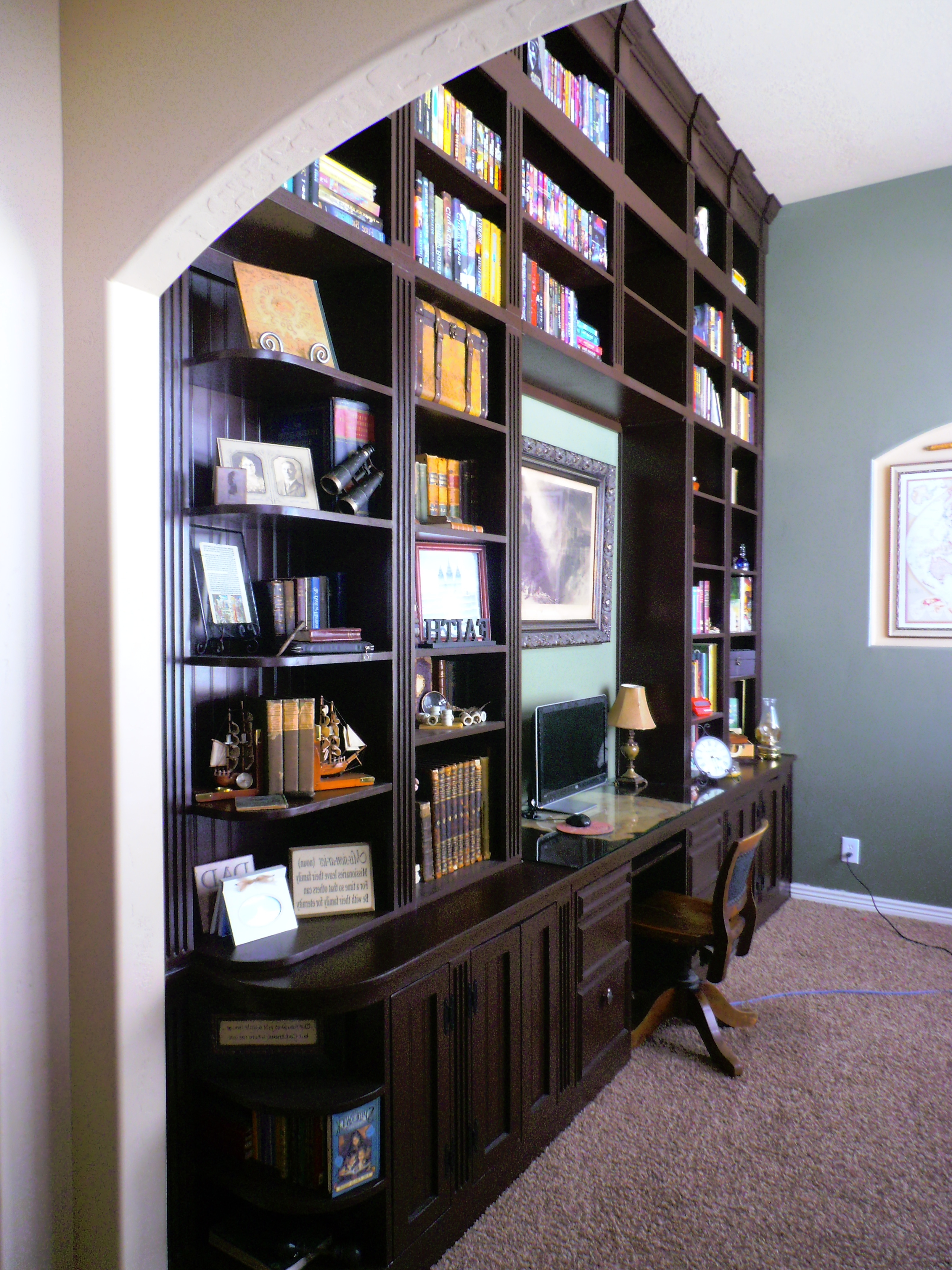 Favorite Library Wall Bookshelves For Bookcase S (View 13 of 15)