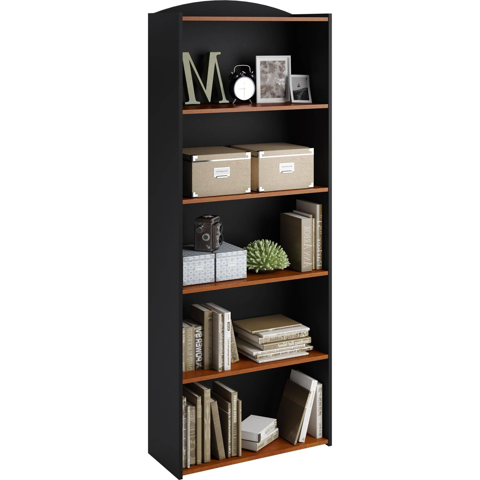 Favorite Mainstays 5 Shelf Bookcase, Multiple Colors – Walmart With South Shore Axess Collection 5 Shelf Bookcases (View 7 of 15)