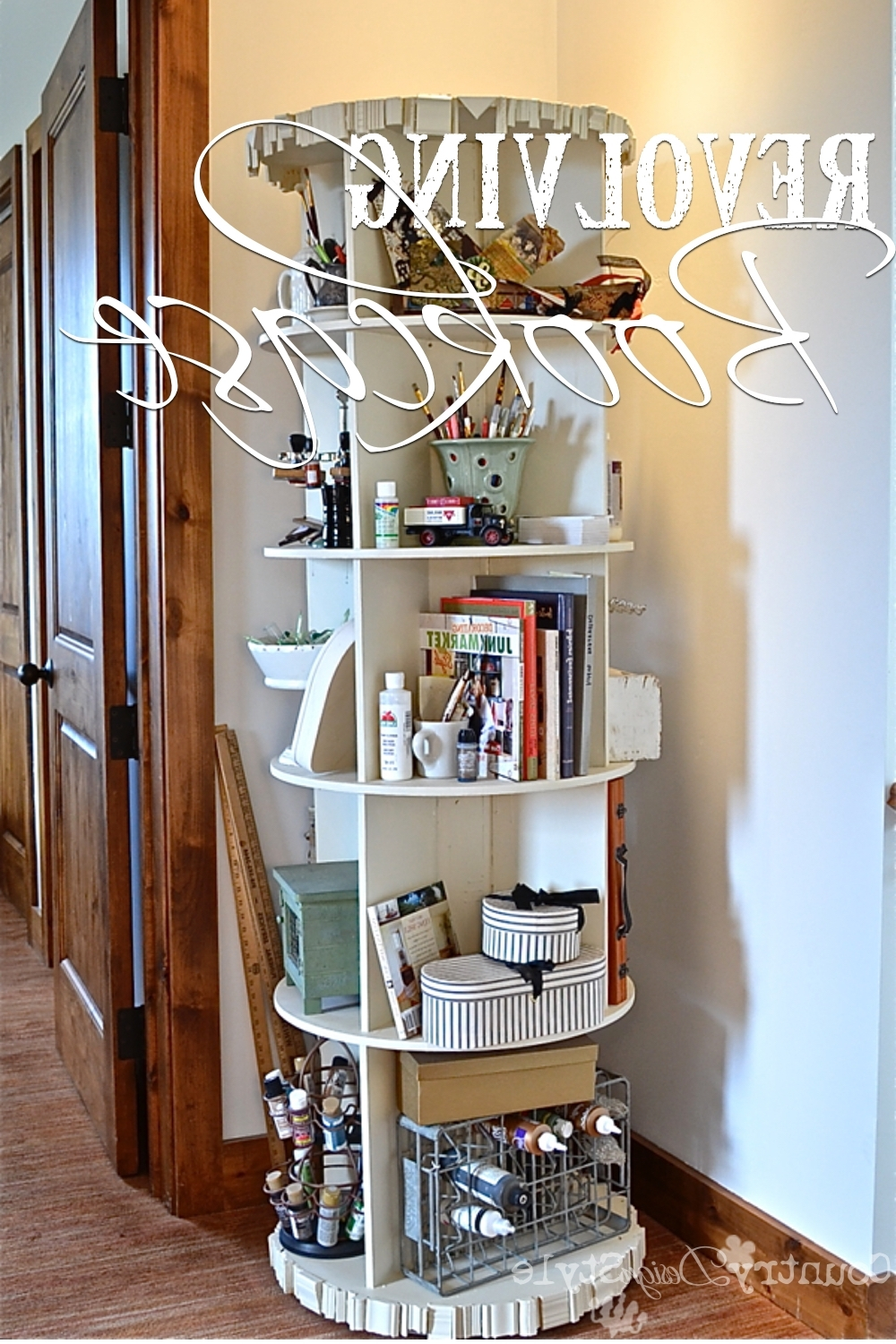 Favorite Rotating Bookcases Regarding Revolving Bookcase – Country Design Style (View 8 of 15)