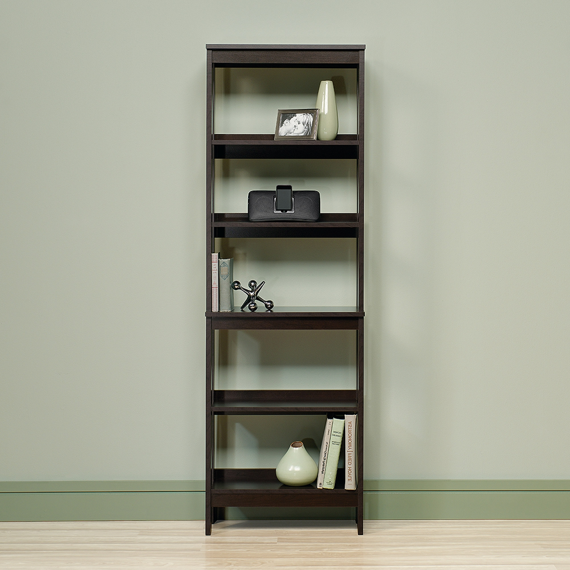 Favorite Sauder 5 Shelf Bookcases With Sauder Beginnings 5 Shelf Bookcase, Cinnamon Cherry Finish (View 8 of 15)