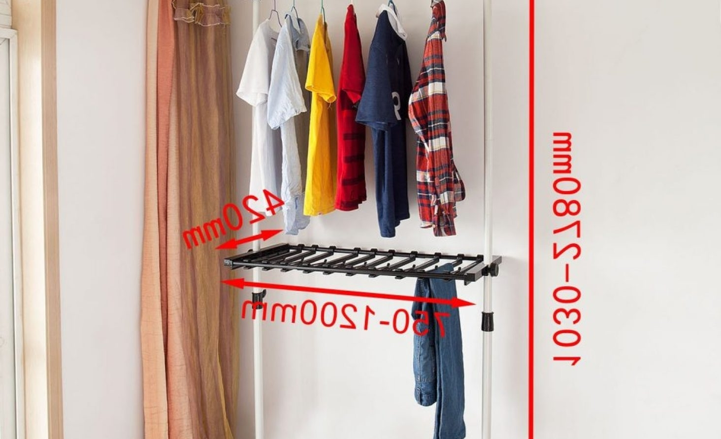 Favorite Shelf : Wardrobe Hanging Rail Stunning Double Hanging Rail Within Tall Double Hanging Rail Wardrobes (View 5 of 15)