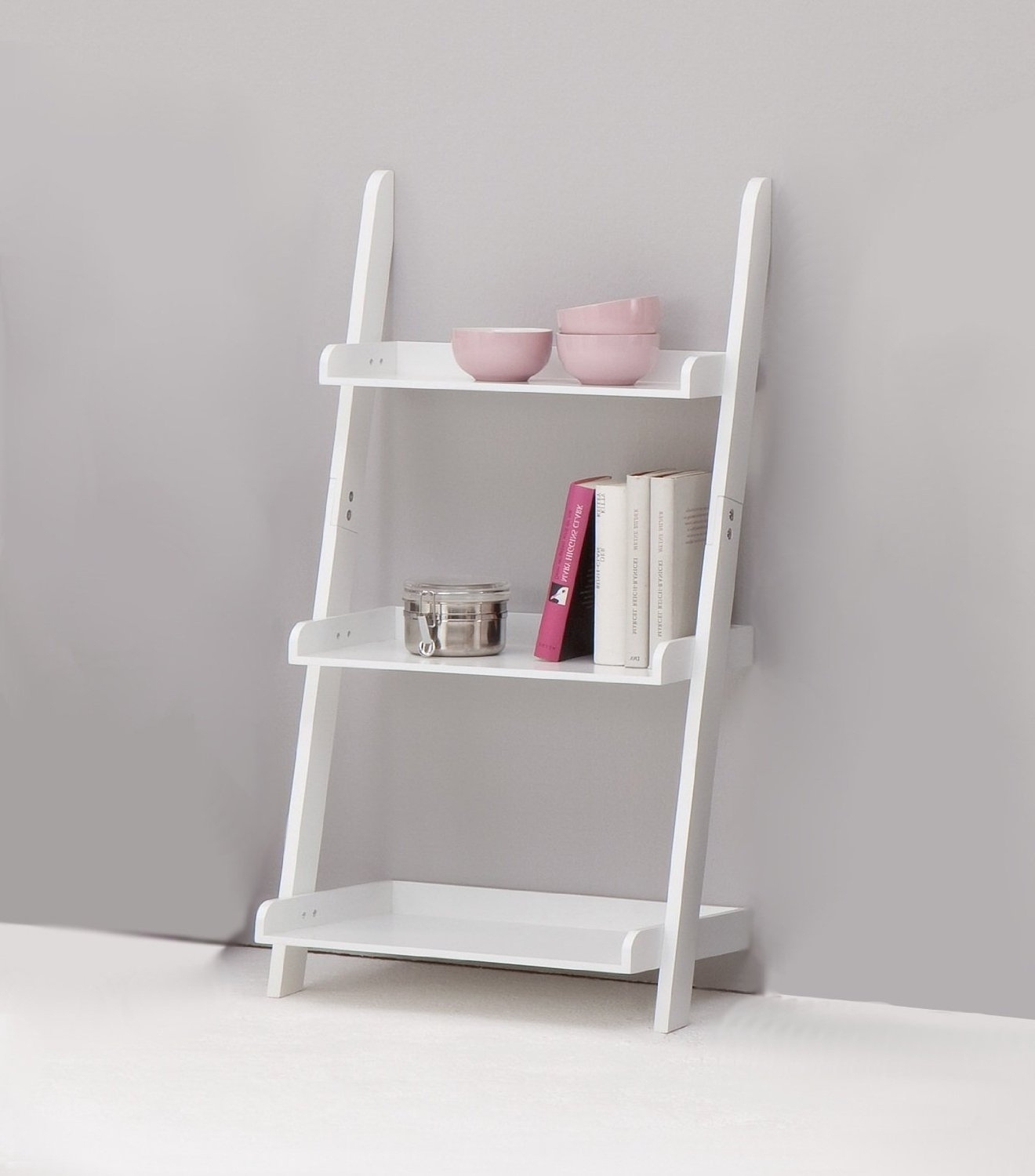 Favorite Small White Bookcases Regarding Small White Ladder Bookcase : Doherty House – Look Elegant With (View 4 of 15)