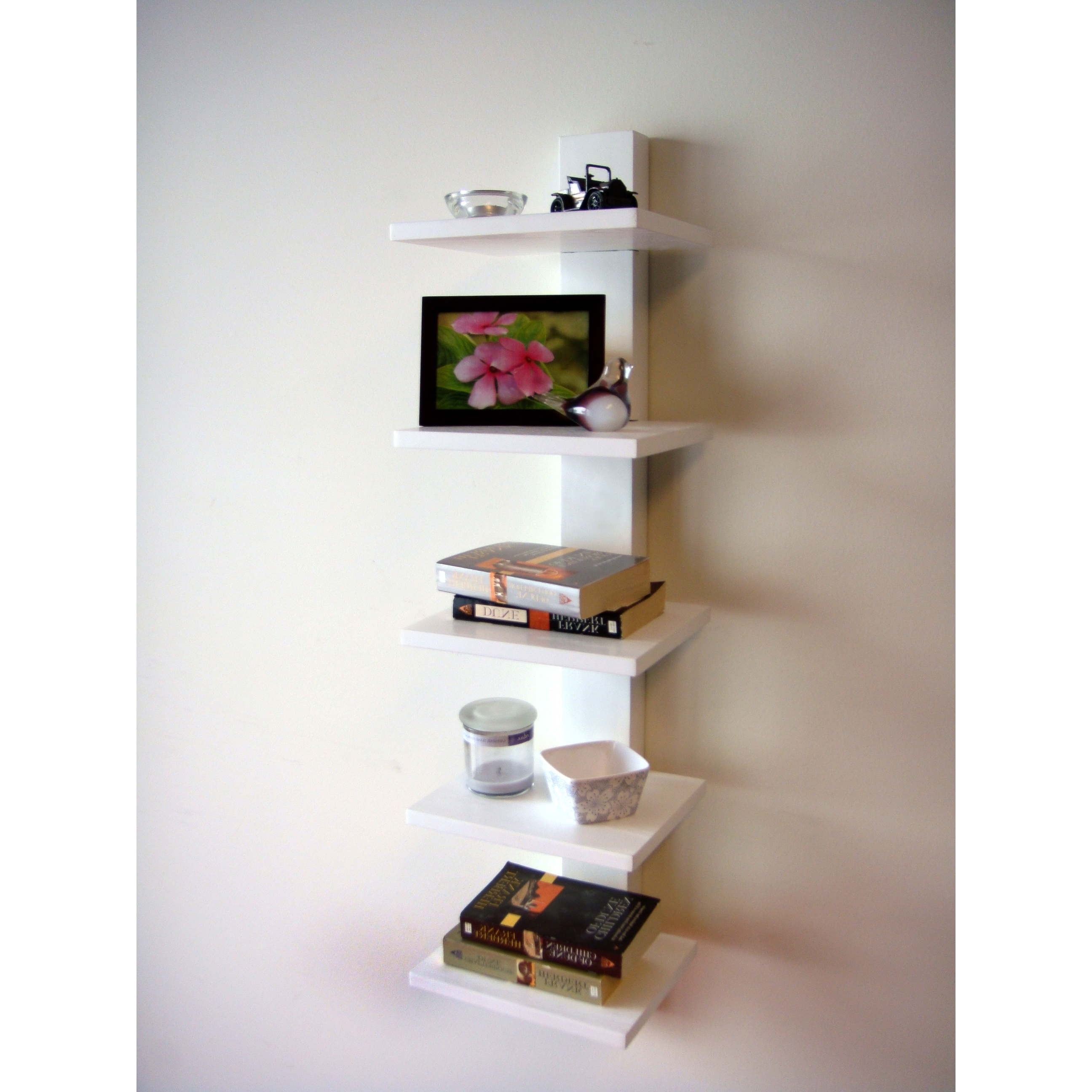 Favorite Spine Bookcases Throughout Spine Wall White Book Shelves – Free Shipping Today – Overstock (View 14 of 15)