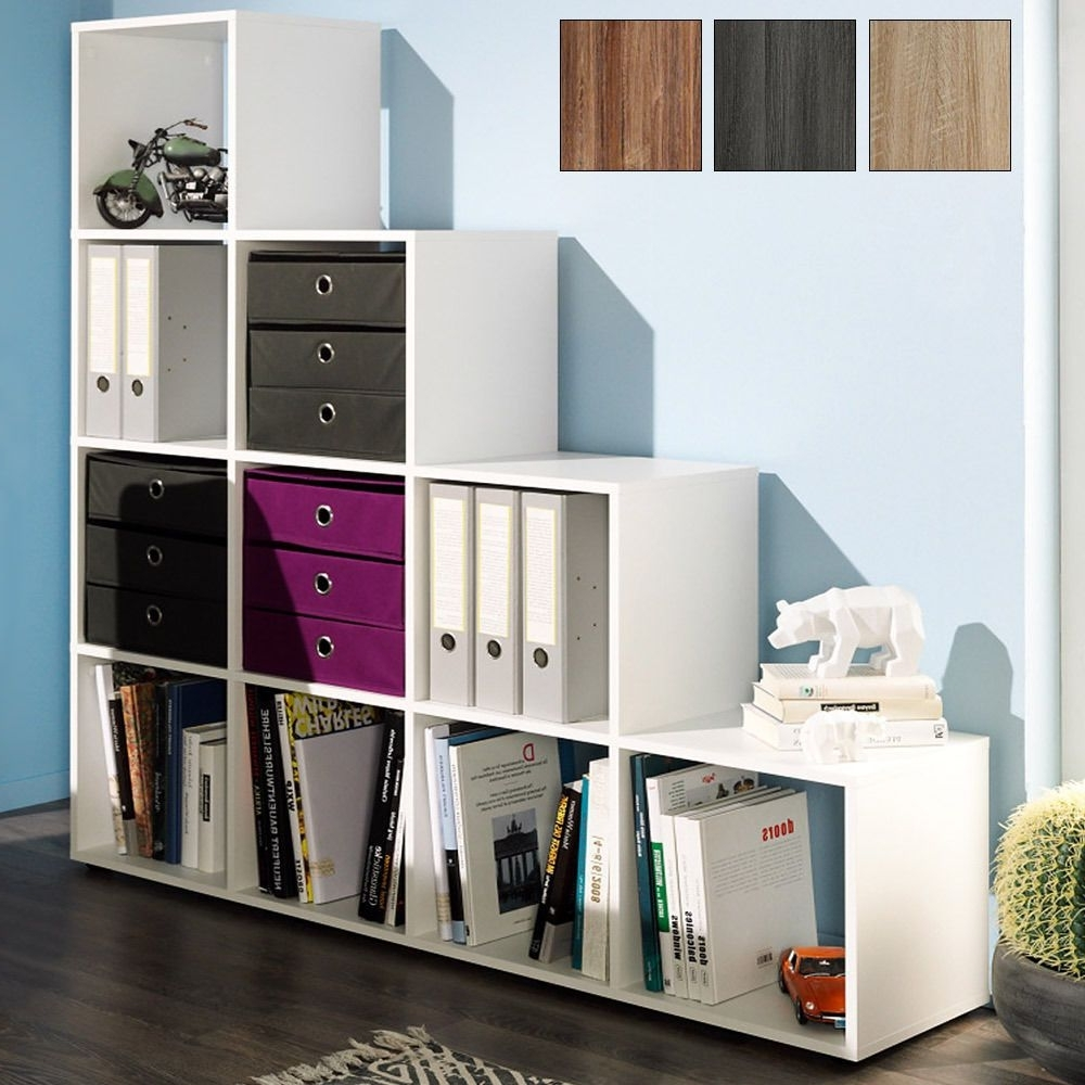 Favorite Step Storage Shelf Cube Wooden 10/6 Boxes Bookcase Shelving Unit Pertaining To Storage Bookcases (View 3 of 15)