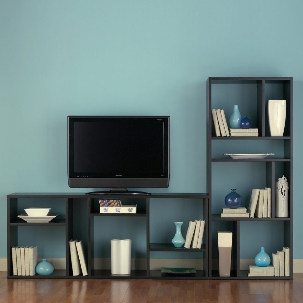 Favorite Tv Stand Bookcases Combo Throughout Bookcases : White Media Stand Long Tv Stand White Tv Stand With (View 11 of 15)