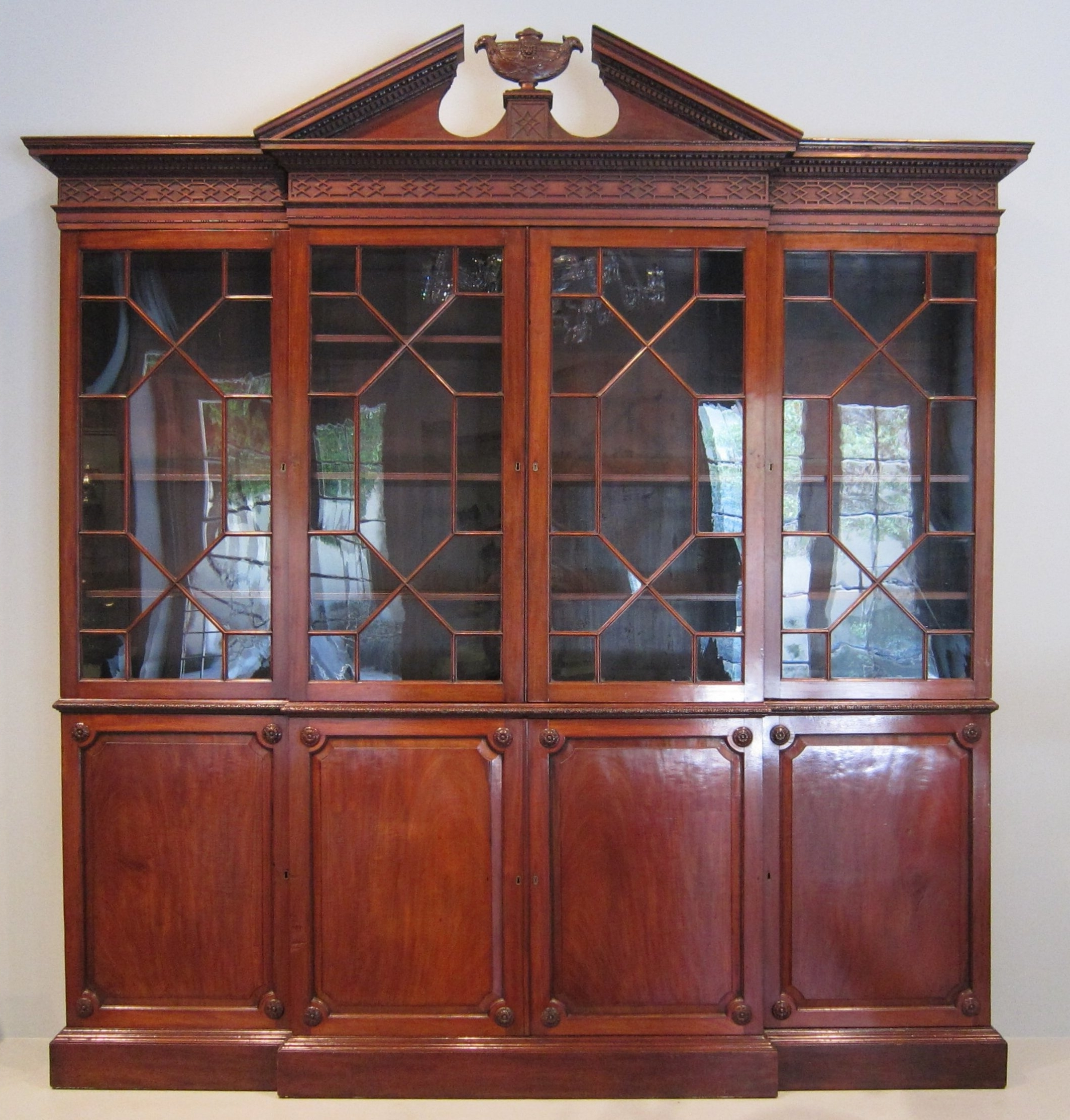 File:wla Haa Breakfront Bookcase After Thomas Chippendale Regarding Well Known Break Front Bookcases (View 9 of 15)