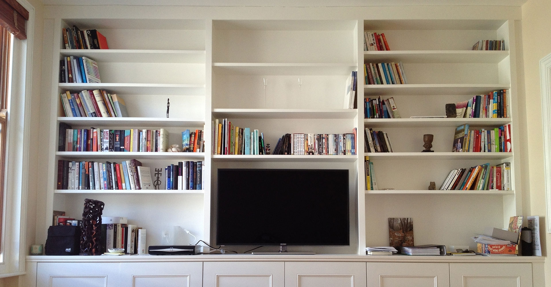 Fitted Cabinets With Famous Design: Fitted Book Shelves Design. Fitted Bookshelves Diy (Gallery 14 of 15)
