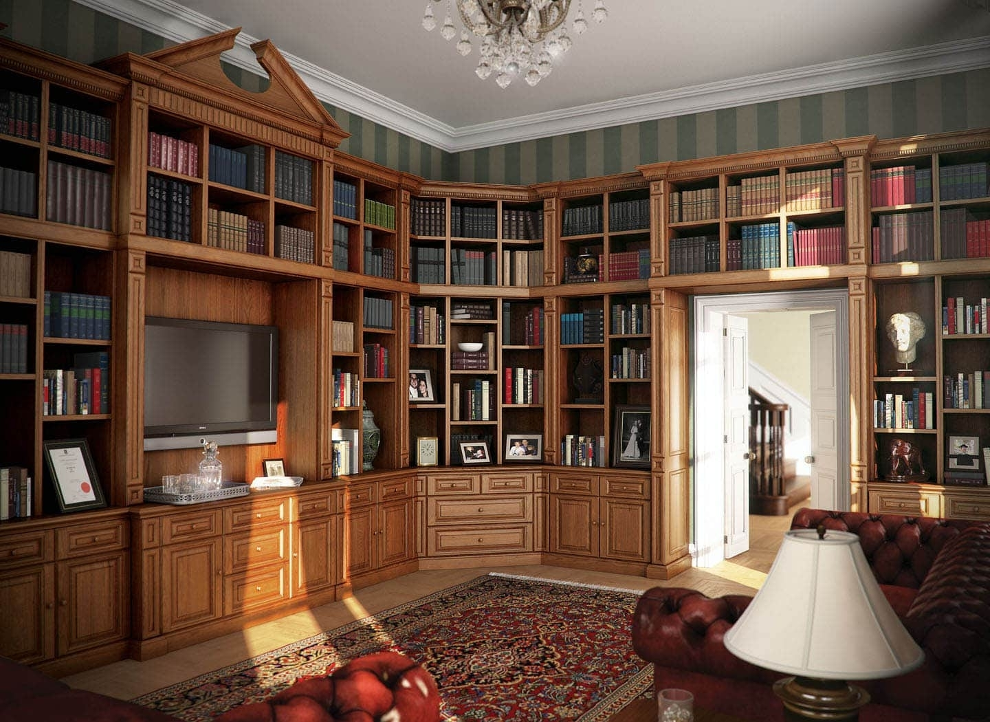 Fitted Home Libraries (View 8 of 15)