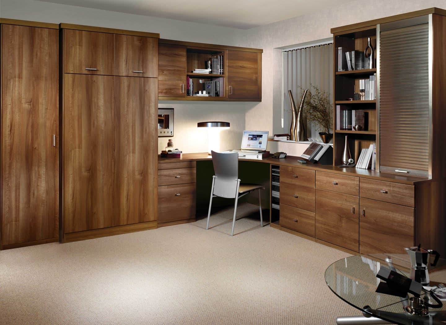 Fitted Home Office Bedroom Combinations (View 4 of 15)