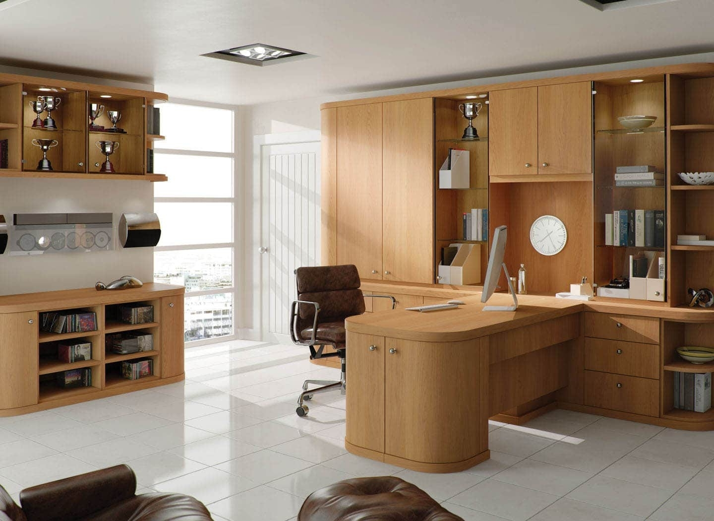 Fitted Home Office Furniture In Best And Newest Contemporary Fitted Home Office Furniturestrachan (View 3 of 15)