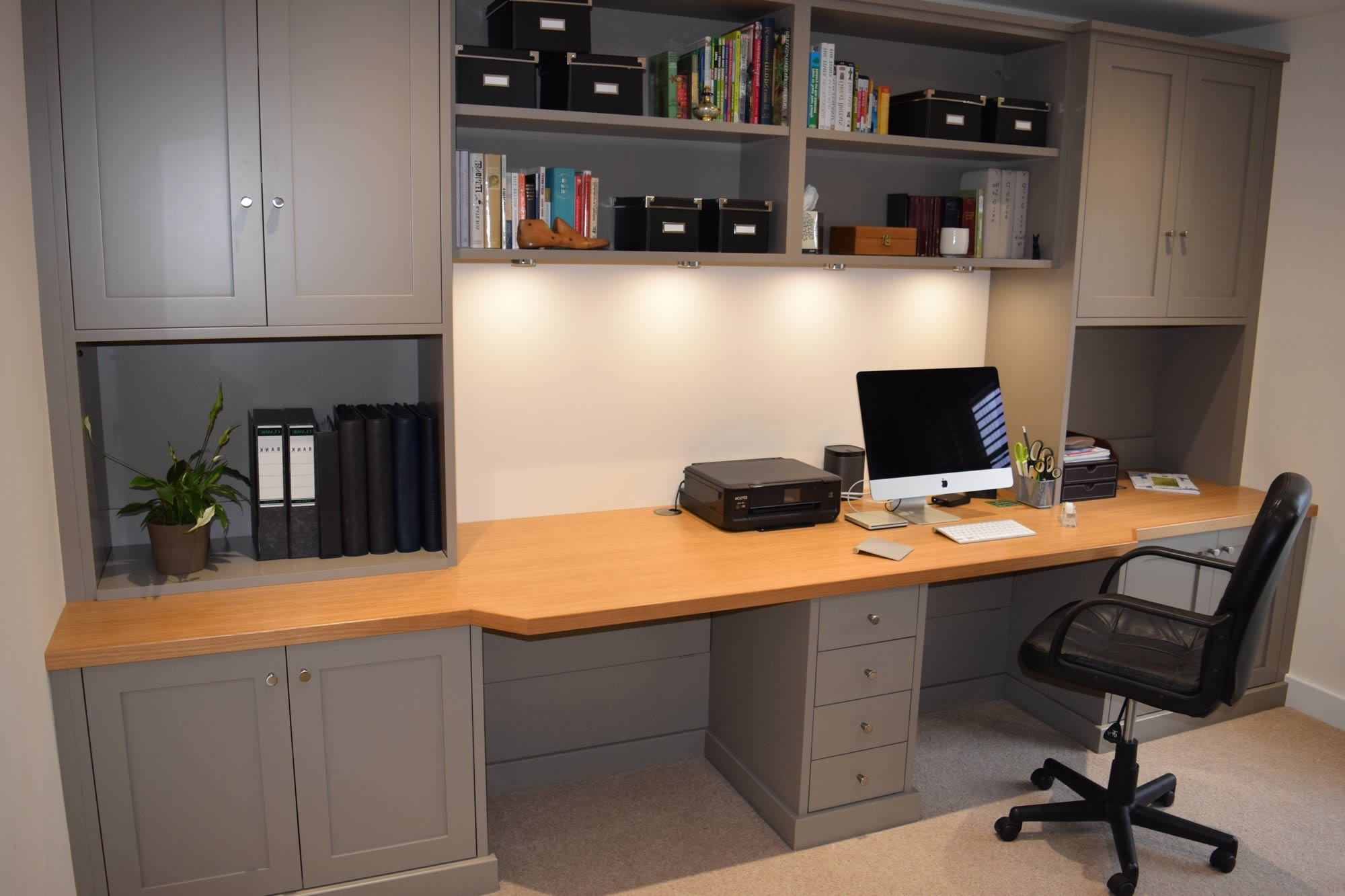 Fitted Home Office Furniture In Widely Used Fitted Study Furniture Home Office (View 4 of 15)