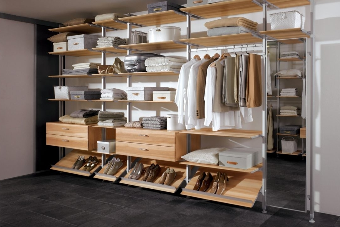 Fitted Shelving Systems Throughout Most Recent Wardrobe Storage Systems Bunnings Fitted Clothes Sliding Cheap (View 9 of 15)