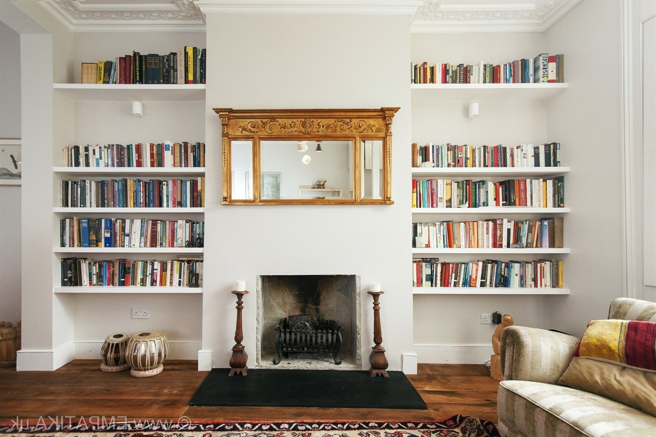 Fitted Shelving Systems Within Well Known Bespoke Shelving In Each Side Of A Living Room In Islington Http (View 8 of 15)