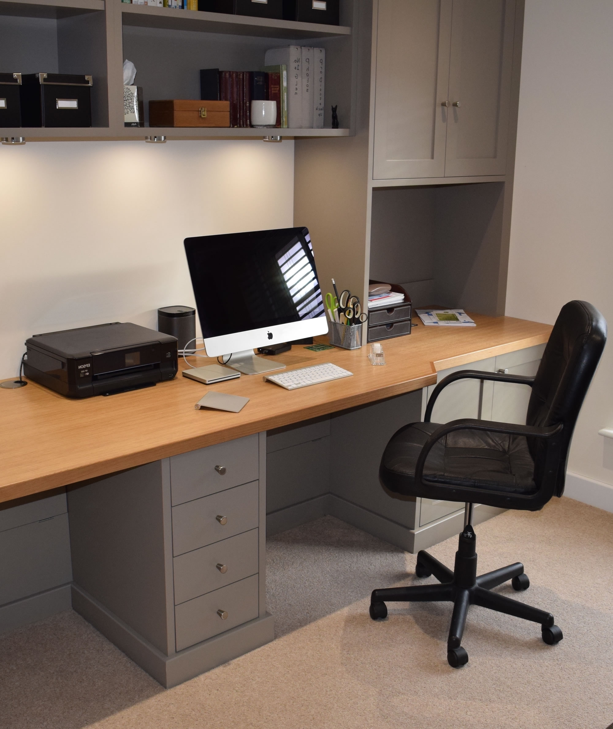 Fitted Study Furniture For Widely Used Bespoke Study Furniture – Gallery (View 5 of 15)