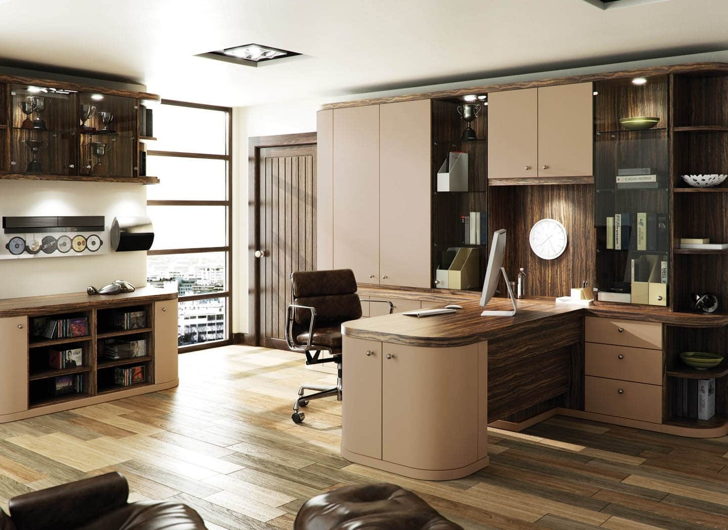 Fitted Study Furniture Within Most Recently Released Fitted Home Office Furniture # (View 9 of 15)