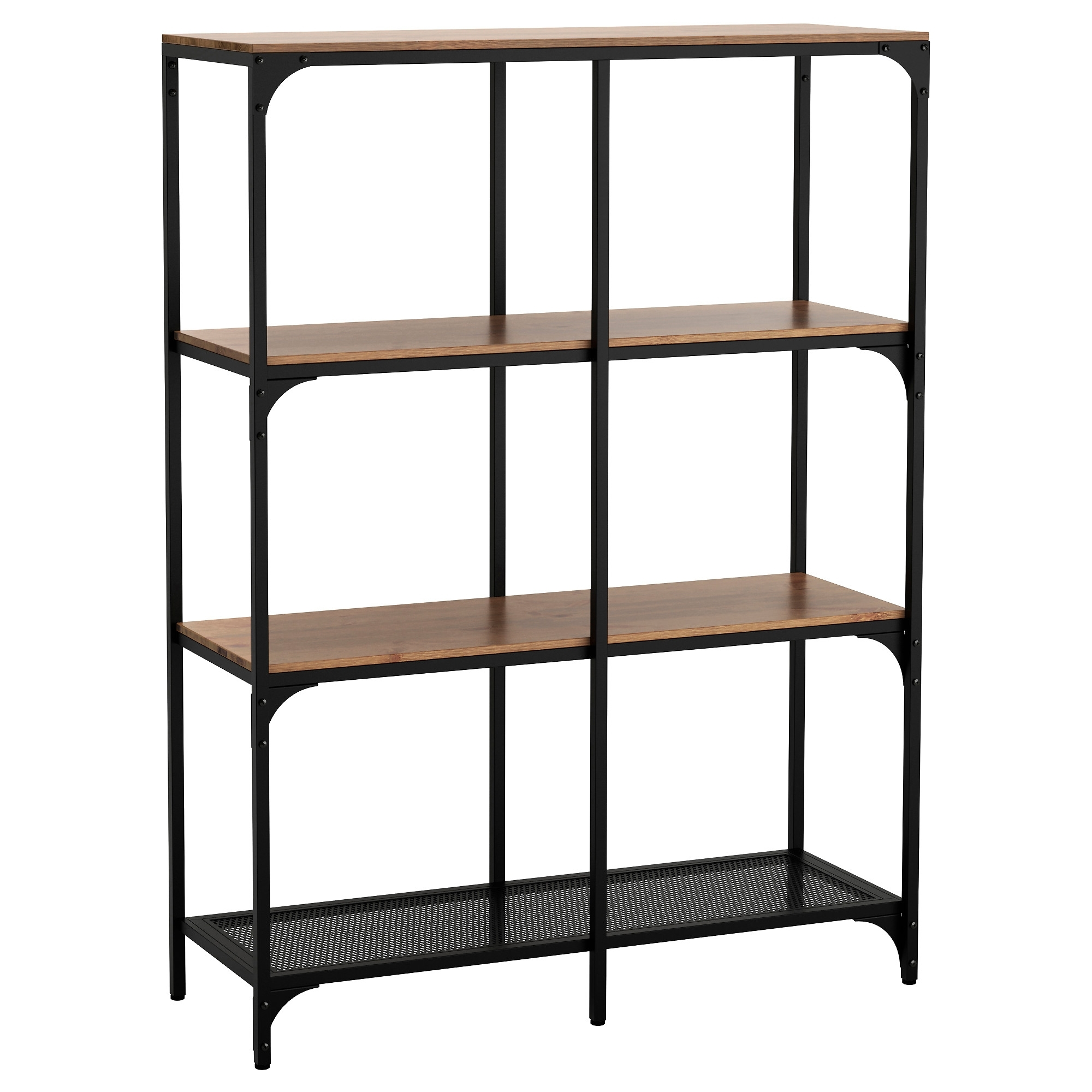 Fjällbo Shelving Unit Black 100X136 Cm – Ikea Regarding Fashionable Cheap Shelving Units (View 6 of 15)