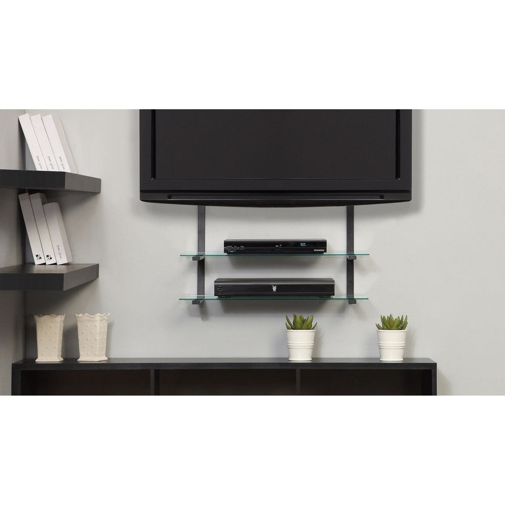 Flat Screen Shelving With 2018 Modern Flat Screen Lcd Tv Wall Mount Up 50 In Glass Shelves (View 6 of 15)