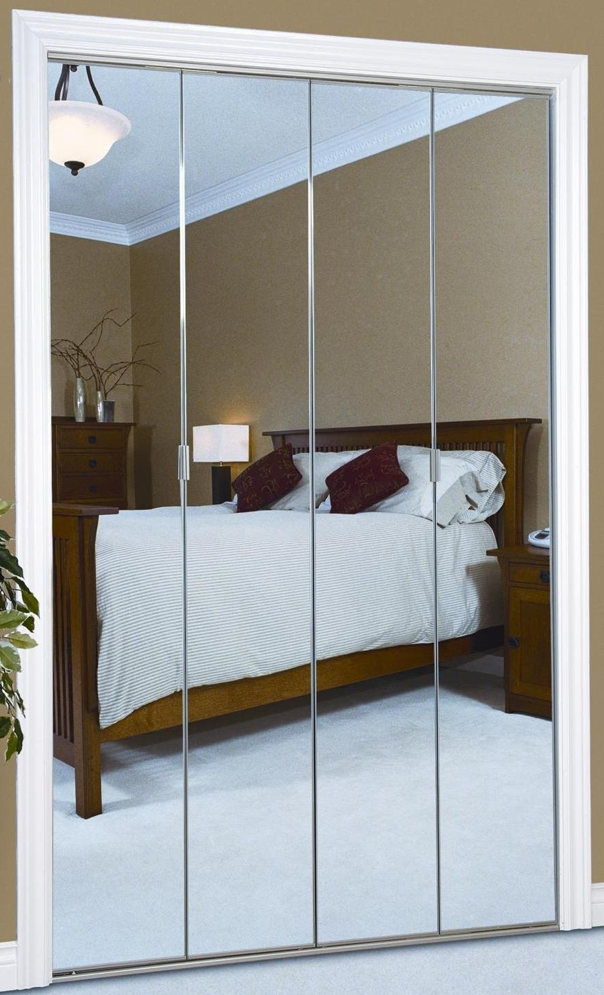 Folding Door Wardrobes With Famous Bi Fold Door System Upto 1200mm Wide (View 11 of 15)