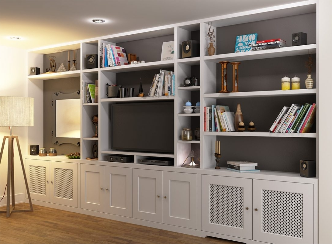 Foot Bookcase Elegant Tv And Units For Rolling Ladder With Within Favorite Tv Bookcases (View 14 of 15)