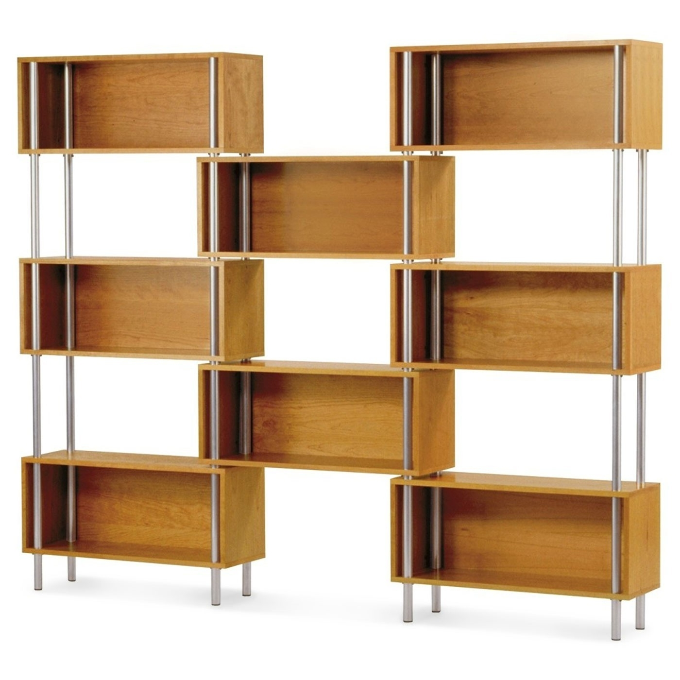 Free Standing Shelving Units Wood Pertaining To Favorite Fascinating Solid Oak Wood Shelving Unit With Glass Shelf (View 5 of 15)