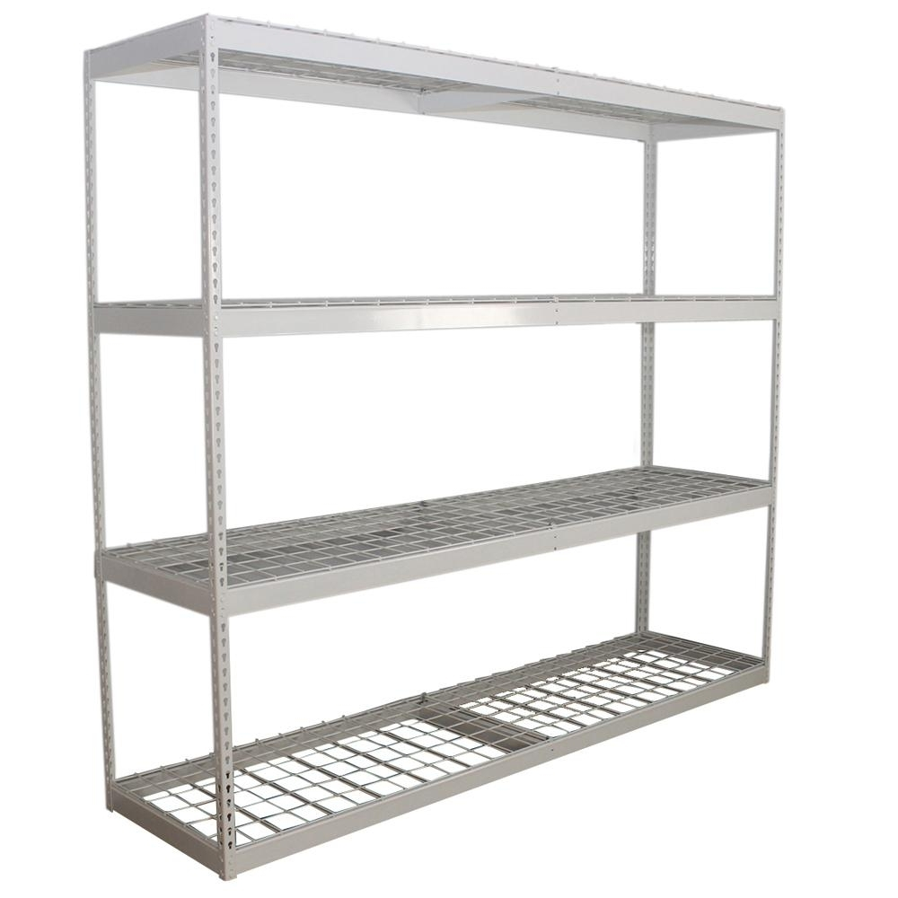 Free Standing White Shelves For Most Up To Date Saferacks 24 In. D X 84 In. H X 96 In (View 5 of 15)