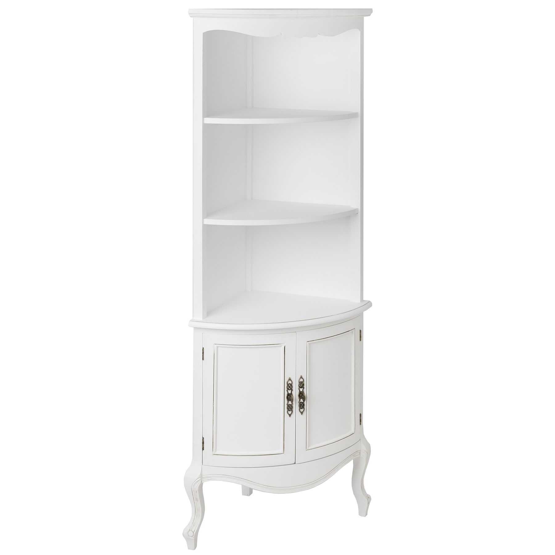 Free Standing White Shelves Throughout Most Up To Date Shelves : Delightful Interior White Wooden Tall Corner Shelves (View 8 of 15)