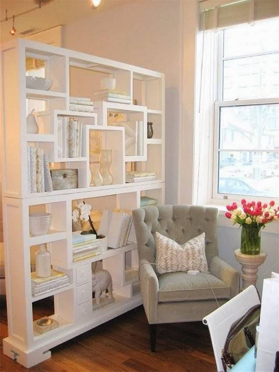 Freestanding Bookcase Living Room Divider : Living Room Divider With Current Freestanding Bookcases Wall (View 4 of 15)