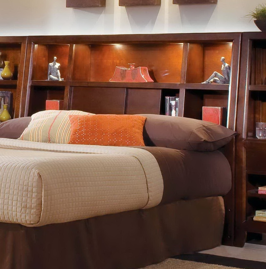 Full Size Headboard Bookcases Throughout Most Up To Date King Size Bookcase Headboard With Lights — All Styles Bookcase (View 7 of 15)