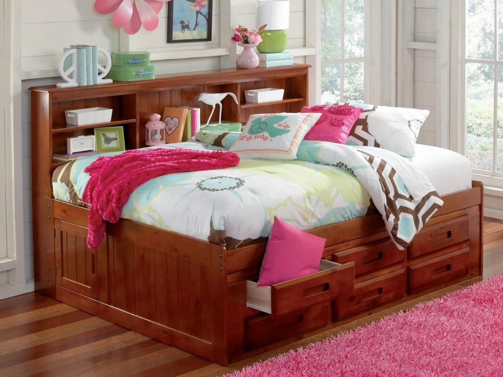 Full Size Storage Bed With Bookcases Headboard With Regard To Recent Full Size Storage Bed With Bookcase Headboard Inspirations Also (View 7 of 15)