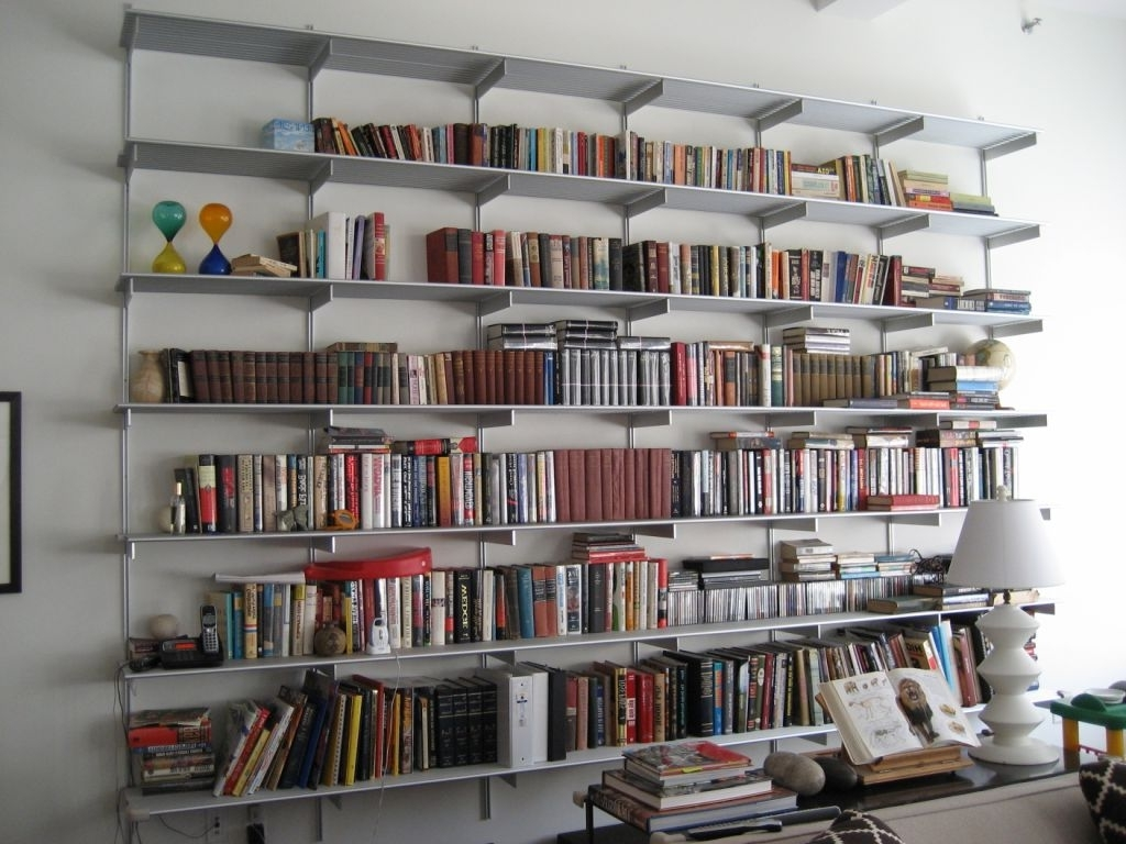 Full Wall Bookshelves With Regard To Preferred Gorgeous Ideas Of Modern Wall Mounted Bookshelves (View 7 of 15)