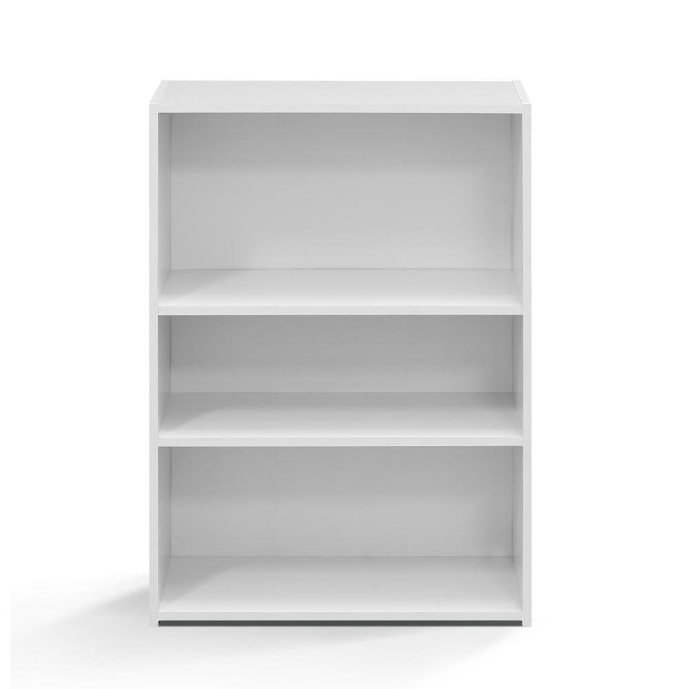 Furinno Wright Soft White 3 Shelf Bookcase 17060wh – The Home Depot Throughout Most Recent 3 Shelf Bookcases (View 10 of 15)