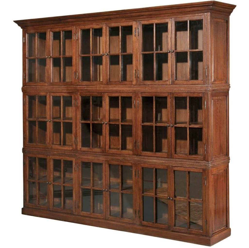 Furniture: 3 Shelf Solid Wood Bookcase With 2 Drawers Front View Pertaining To Fashionable Large Solid Wood Bookcases (View 6 of 15)