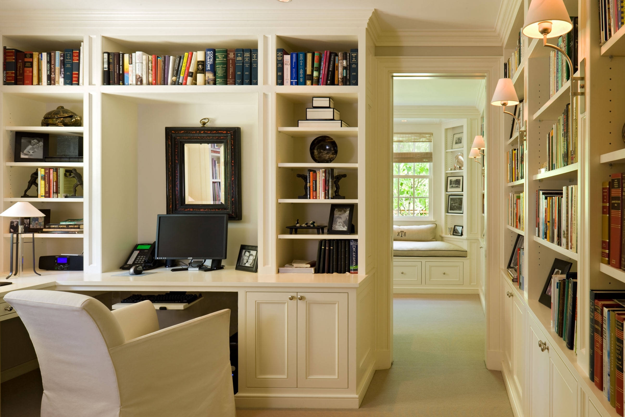 Furniture: Built In Bookcases With Custom Bookshelves Also Desks With Most Up To Date Built In Study Furniture (View 7 of 15)