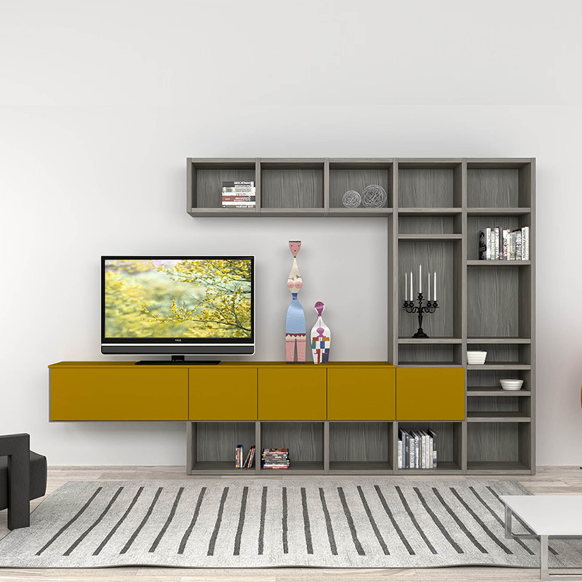 Furniture Floating Entertainment Shelves Centers Wooden Tv Stand Inside Most Recently Released Bespoke Tv Stands (View 12 of 15)