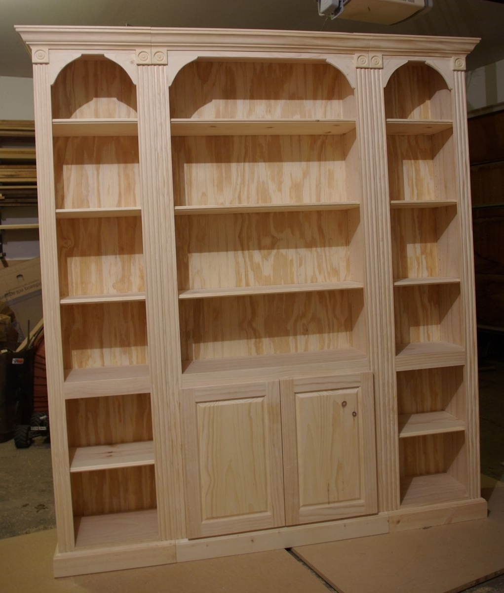 Furniture: Handmade Unfinished Bookcases And Finished Furniture With Regard To 2017 Unfinished Bookcases (View 11 of 15)