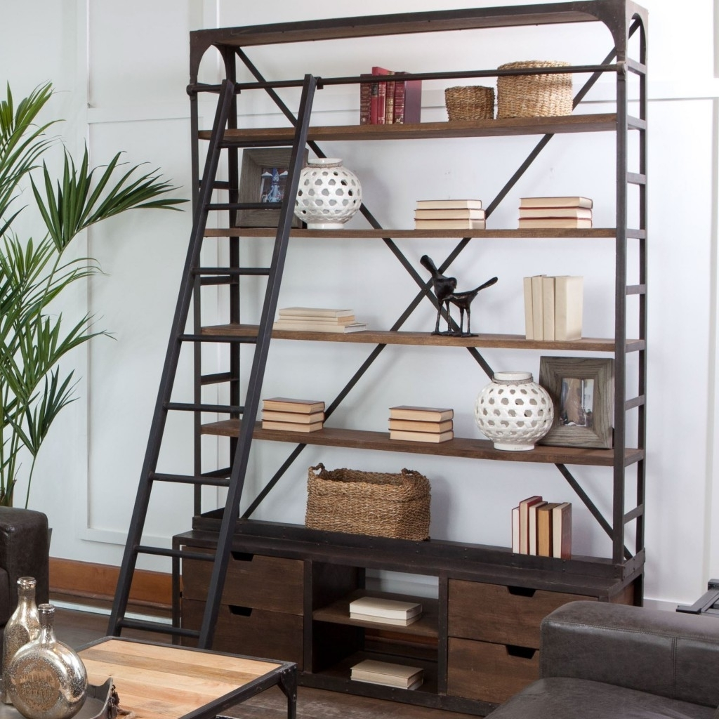 Furniture Home: Furniture Home Industrial Style Bookcase Best Throughout Latest Industrial Style Bookcases (View 8 of 15)