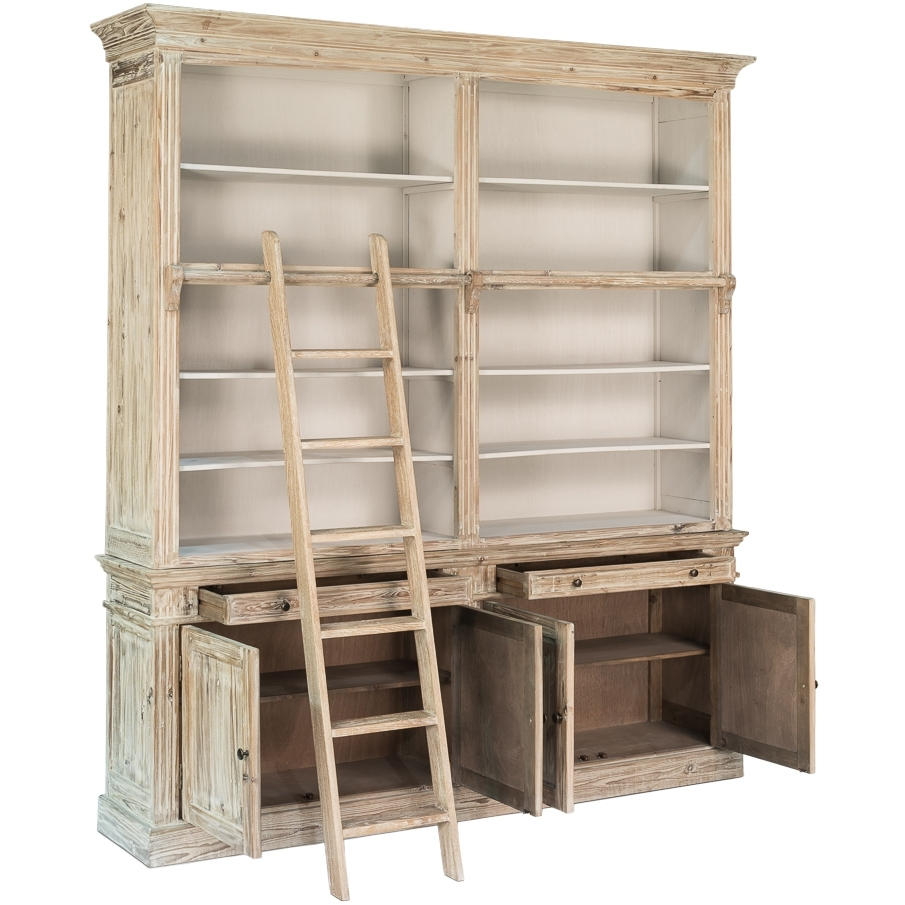 Furniture Home: Furniture Home White Washed Library Bookcase With For Latest Whitewash Bookcases (View 5 of 15)