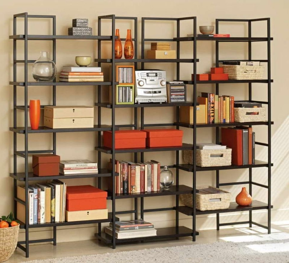 Furniture:the Light Space Decoratedthe Full Black Open Cube Within Trendy Colored Bookcases (View 6 of 15)