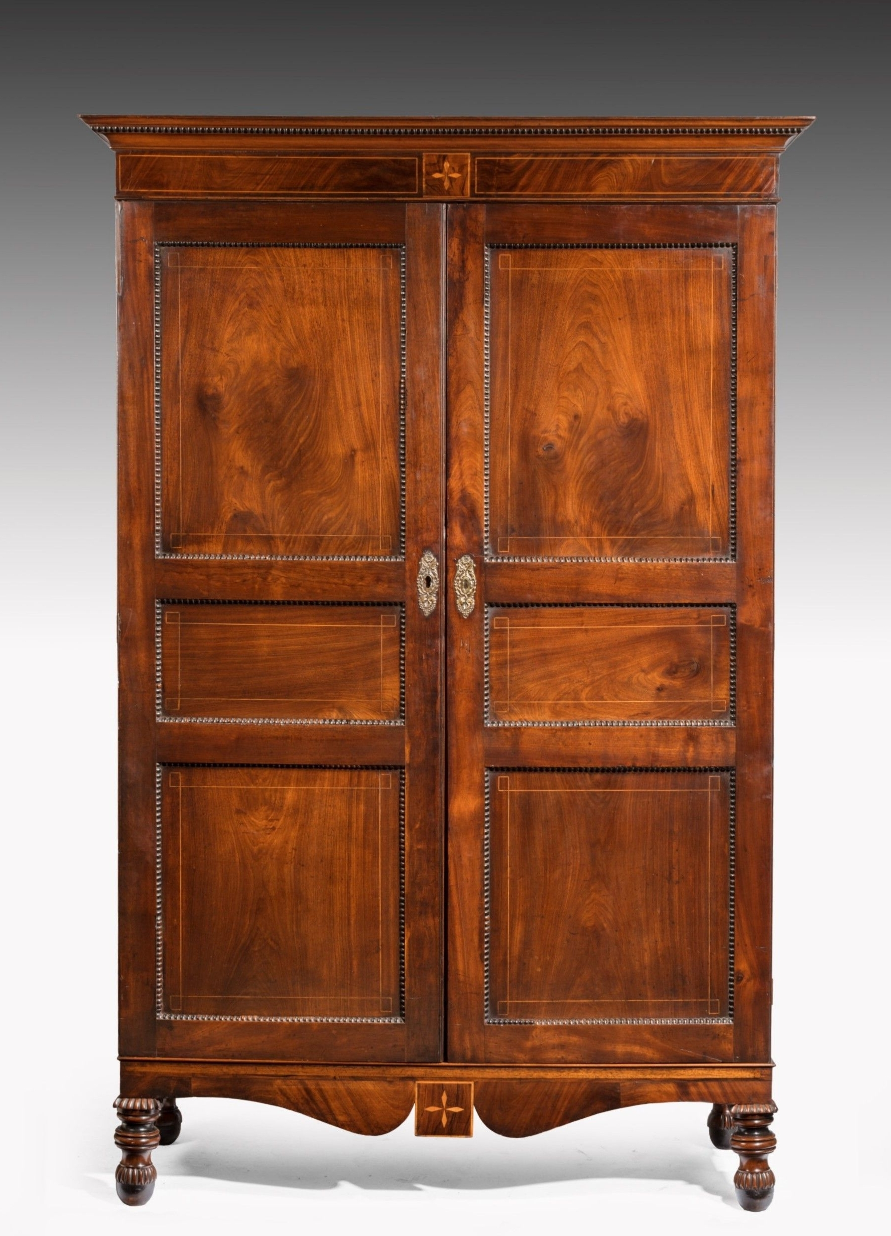 Georgian Breakfront Wardrobes Pertaining To Preferred Antique Mahogany Wardrobes – The Uk's Premier Antiques Portal (View 9 of 15)